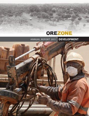 ANNUAL REPORT 2011 DEVELOPMENT - Orezone Gold Corporation