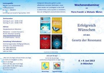 01 NEU Erfolgreich Wünschen 2013 Flyer 02 ... - Pierre Franckh