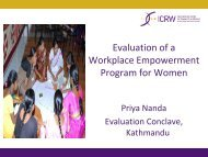 Evaluation of a Workplace Empowerment Program for Women