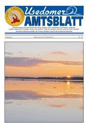 Jahrgang 8 Mittwoch, den 22. Februar 2012 Nr. 02 - Amt Usedom Süd