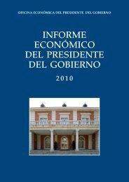 Informe Económico del Presidente del Gobierno. 2010