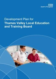 Thames Valley LETB Development Plan - Workforce and Education
