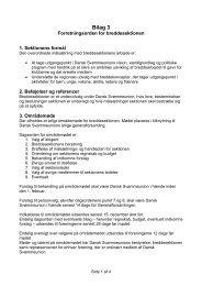 Bilag 3 - Dansk Svømmeunion