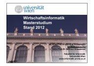 Download Präsentation - Fakultät für Informatik - Universität Wien