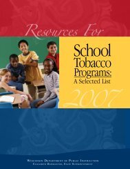 Resources for School Tobacco Programs - Student Services ...
