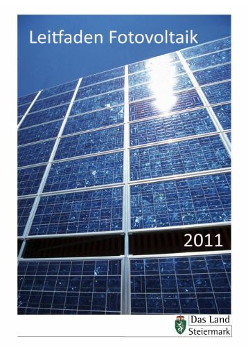 Leitfaden Fotovoltaik 2011 - Energie - Steiermark