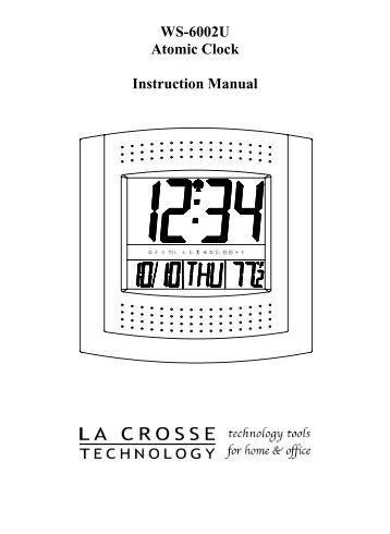 Where can you find instruction manuals for atomic clocks?