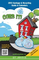2013 Garbage & Recycling Reference Guide ... - City of St. John's