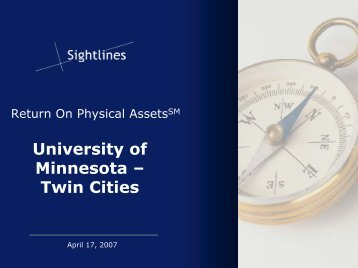 Sightlines Presentation (PDF) - Facilities Management - University of ...