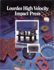 Lourdes High Velocity Impact Press Brochure - Sterling Machinery