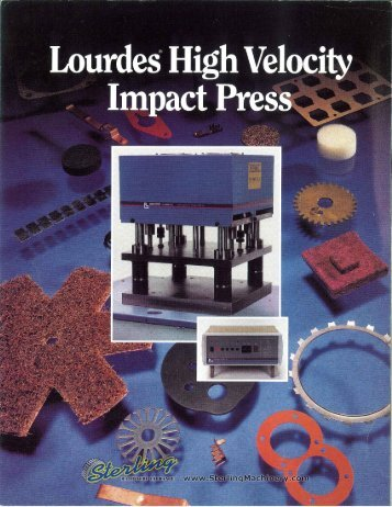 Lourdes High Velocity Impact Press Brochure - Sterling Machinery