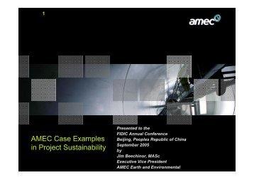 FIDIC 2005 presentation, Beechinor, Project Sustainability ...
