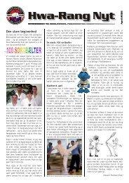 Hwa-Rang Nyt Den store begivenhed - Ballerup Taekwondo Klub