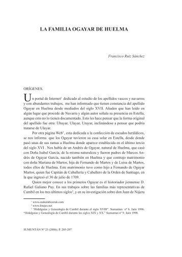 La familia Ogayar de Huelma. Por Francisco Ruiz Sánchez