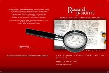 book of abstracts 11th annual research half day may 12, 2010 ...