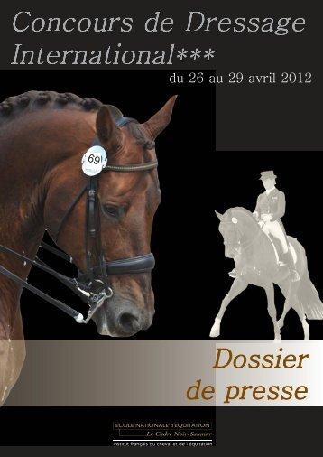 Dossier de presse - Ecole nationale d'équitation et du Cadre Noir de ...
