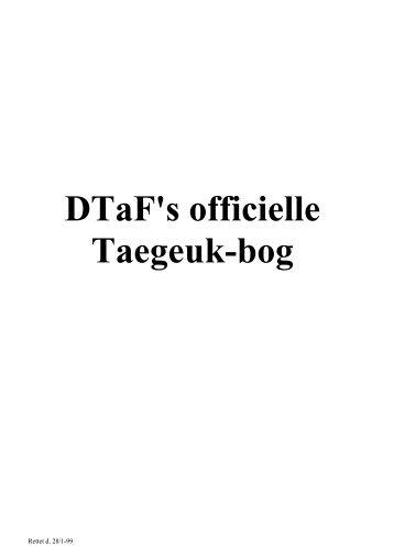 Taegeuk indledning - Ballerup Taekwondo Klub