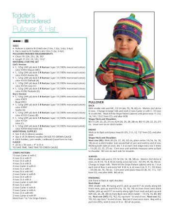 Pullover & Hat - Knit 'N Style Magazine