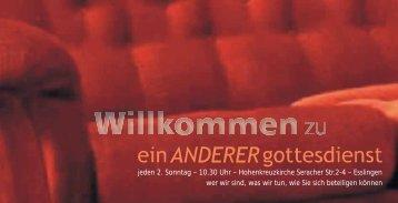 Broschüre einANDERERgottesdienst - Ev-kirche-st-bernhardt.de