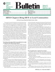 HFES Bulletin - Human Factors and Ergonomics Society