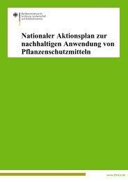 Nationaler Aktionsplan zur nachhaltigen Anwendung von ... - BMELV