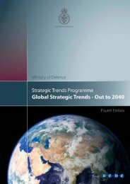 Global Strategic Trends -- Out to 2040 - Department of Statistics