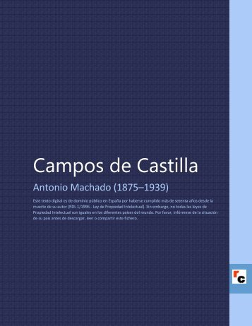 Machado,Antonio,Campos de Castilla