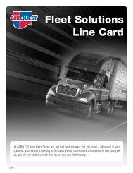 Fleet Solutions Line Card - CARQUEST Auto Parts
