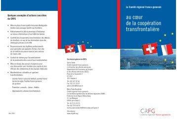 au cœur de la coopération transfrontalière - CRFG
