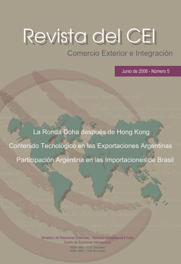 REVISTA CEI - Centro de Economía Internacional