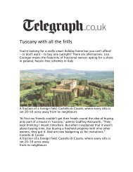 Tuscany with all the frills - Timbers Resorts