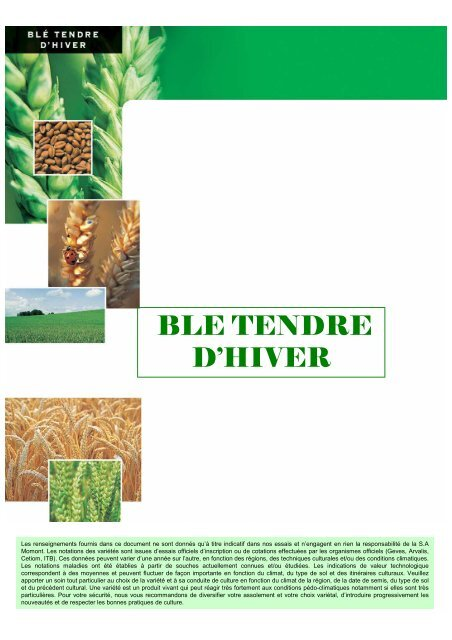 tableau comparatif blé tendre 08 - MOMONT