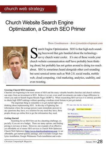 Church Website Search Engine Optimization, a Church SEO Primer