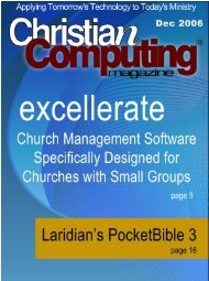 Mobile Computingis - Christian Computing Magazine