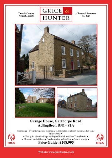 208995 Grange House, Garthorpe Road ... - Grice & Hunter