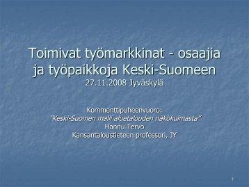 Hannu Tervo - Keski-Suomen liitto