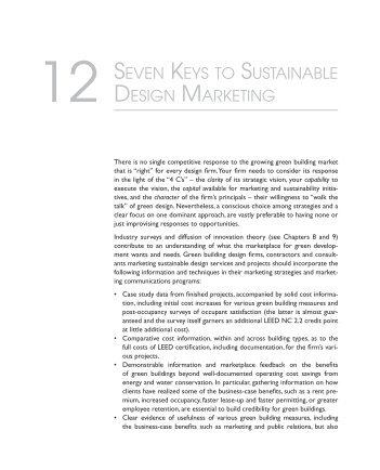 seven keys to sustainable design marketing - Green Build Consulting