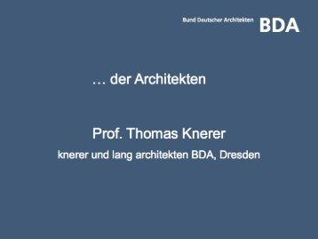 Anforderungen an die energetische Sanierung aus Sicht - BDA Berlin