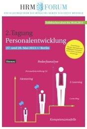 2.Tagung Personalentwicklung - HRM-Forum