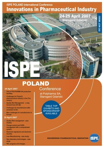ISPE POLAND International Conference - PMI-NIC