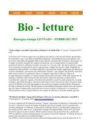 Bio - Letture - Sistema d'informazione nazionale sull'agricoltura ...