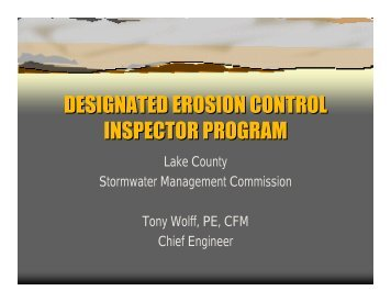 DESIGNATED EROSION CONTROL INSPECTOR PROGRAM ...