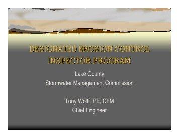 DESIGNATED EROSION CONTROL INSPECTOR PROGRAM ...