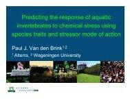 Predicting the response of aquatic invertebrates to ... - Cefic LRI