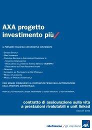 AXA progetto investimento più contratto di assicurazione sulla vita a ...