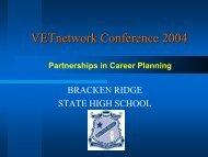Karen Bennett and Noel Gibson - Partnerships in Career Planning