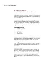 E-Mail Marketing - state interactive