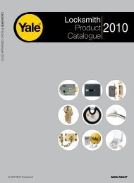 Locksmith Product Catalogue - Yale Door and Window Solutions ...