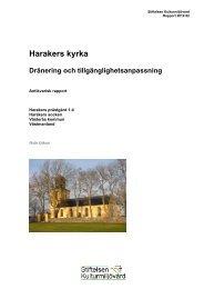 Stiftelsen Kulturmiljövård Rapport 2012:62.