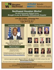 Event Flyer - Houston Northwest Chamber of Commerce